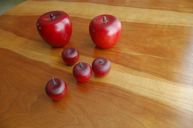 Wooden Apples decor, 6, various sizes for sale in Alpine , UT
