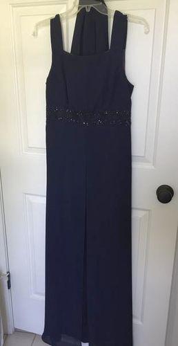 YWomens Long navy formal dress jeweled, sz 8 for sale in Alpine , UT