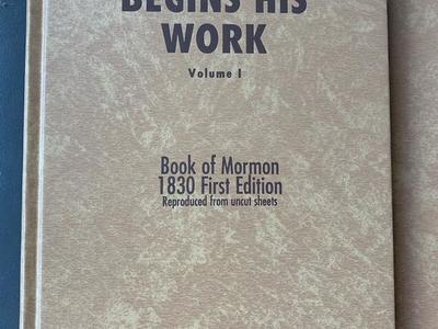Joseph Smith Begins His Work Vol. 1 or 2