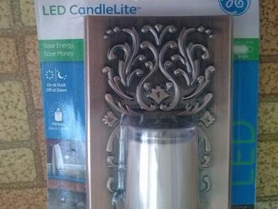 GE LED CandleLite with Light Sensor