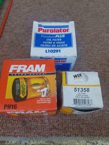 3 Oil Filters, Purolator L10291, Fram PH16, Wix 51 for sale in Salt Lake City , UT