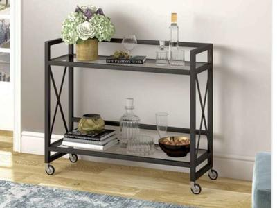 Holly Bar Cart in Blackened Bronze by Meyer&Cross