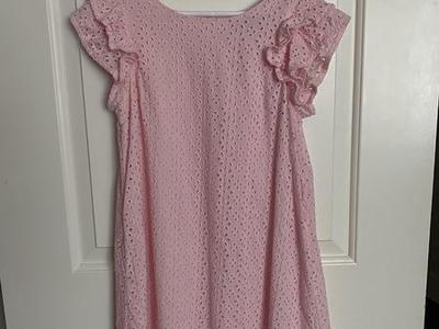 Like New Girls Pink Ralph Lauren Eyelet Dress