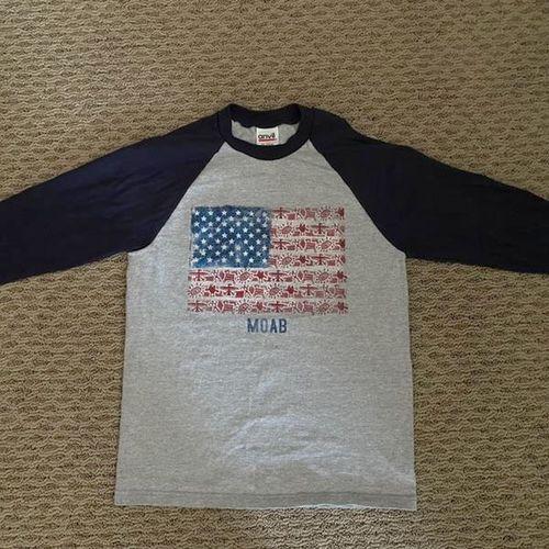 4th of July Moab Raglan Blue Baseball T-Shirt  for sale in North Salt Lake , UT