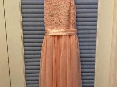 Btween Girls Peach Gold Dress Sequins Tulle Skirt