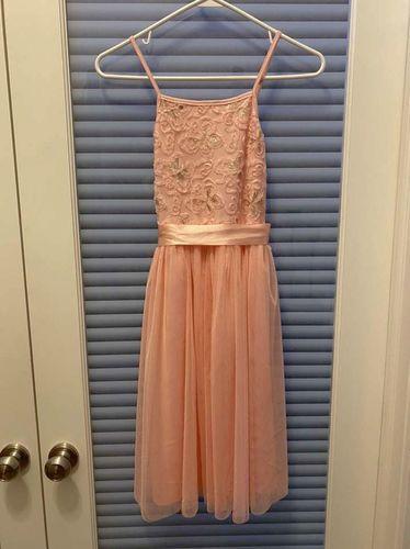 Btween Girls Peach Gold Dress Sequins Tulle Skirt for sale in North Salt Lake , UT