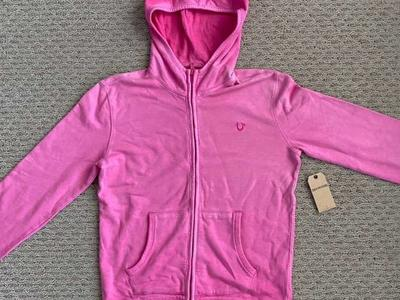 New True Religion Hot Pink Hoodie Girls X Large