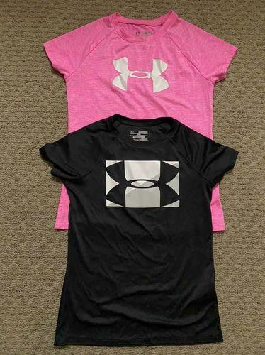 Under Armour Girls Pink Short Sleeve Shirt Medium for sale in North Salt Lake , UT