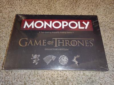 MONOPOLY GAME OF THRONES. COLLECTORS EDITION. NEW