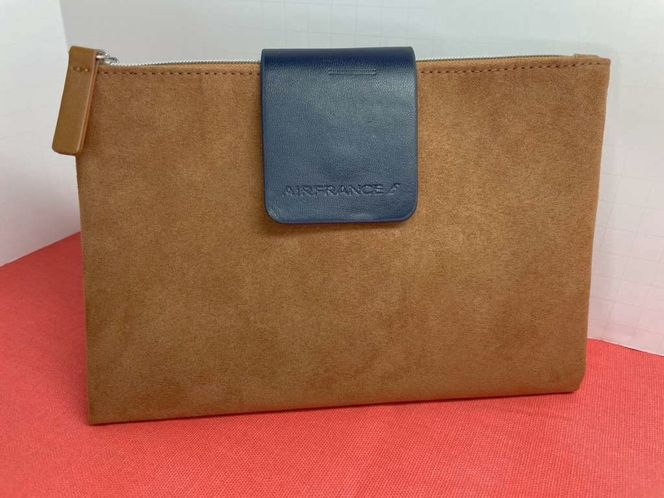 AirFrance Suede Purse With Navy Leather Tab for sale in American Fork , UT