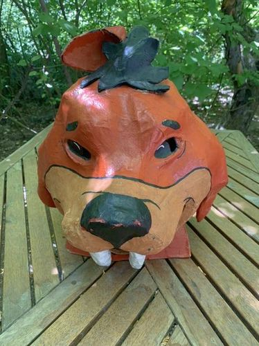 Vintage Paper Mache-style Saber Tooth Tiger Mask for sale in Sandy , UT