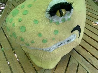 Vintage Dinosaur Theater Paper Mache Mask