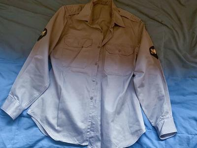 Korean War Era Khaki Uniform Shirt 15.5x33