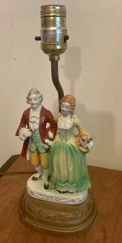 Vintage Classical Style Figural Porcelain Lamp  for sale in Sandy , UT