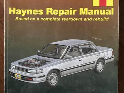 Haynes Repair Manual Nissan Maxima 1985-92
