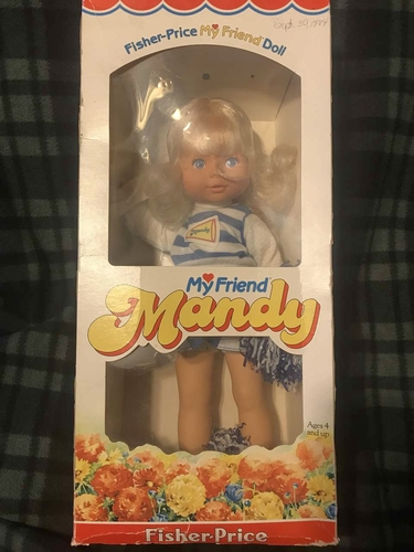 1984 Vintage Fisher Price MY FRIEND MANDY Doll Cheerleader NEW for sale in Provo , UT