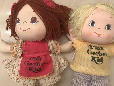 """Vintage 1980s I'm A Gerber Kid Doll 12"""" Atlanta Novelty Boy Girl Red Blonde Hair"""