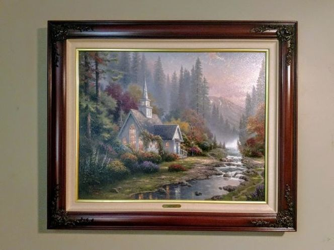 RARE Thomas Kinkade The Forest Chapel P/P Canvas for sale in Salt Lake City , UT