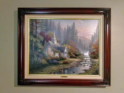 Thomas Kinkade Forest Chapel - Sold Out P/P