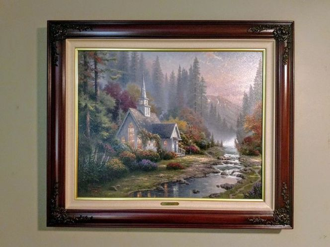 Thomas Kinkade Forest Chapel - Sold Out P/P for sale in Salt Lake City , UT