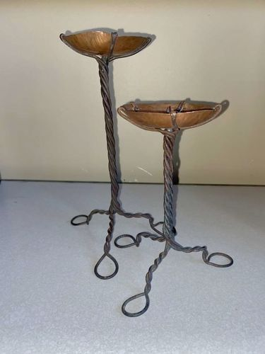 Antique Rod Iron And Copper Candle Holders Vintage for sale in Millcreek , UT