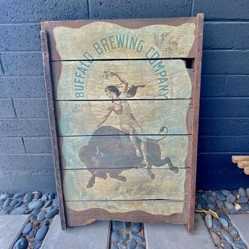 Rare Vintage Buffalo Brewing Advertising Beer Sign for sale in Millcreek , UT