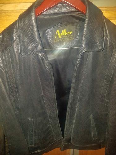 ADLER Leather Jacket. Dark brown/Lizard Print. Size Medium. Excellent. for sale in Provo , UT