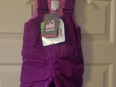 New Children's Place Snow Bibs Purple 12 mo