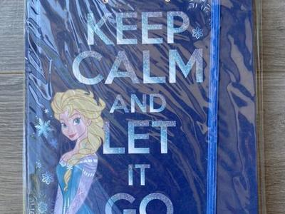 NEW! Disney Frozen Keep Calm And Let It Go Journal