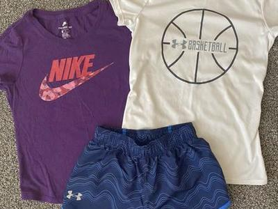 Girl's Nike And Under Armour Clothes