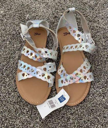 NEW! Gap Girl's Silver Iridescent Sandals for sale in Lehi , UT
