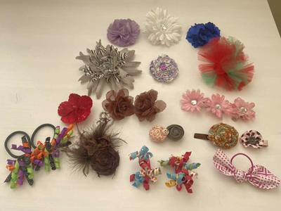 Little Girl Hair Bows And Clips