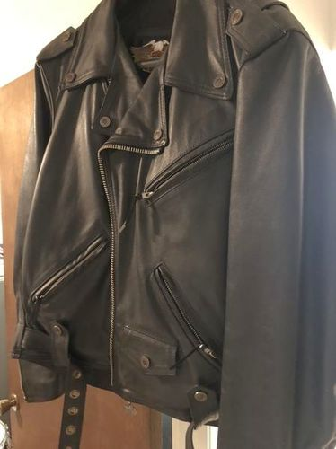 Harley Davidson Leather Riding Coat for sale in Taylorsville , UT