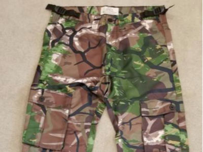 Camo shirt and pants, brand new, various sizes