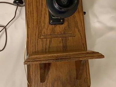 Vintage Wall Mount Telephone.  Reproduction Works