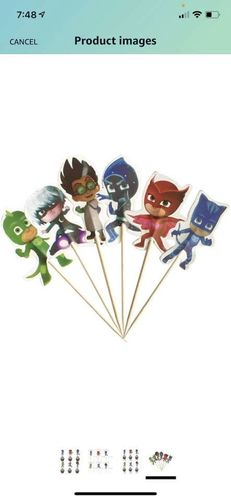 Selling 48 PJ mask Cupcake Toppers Decorations for rent in North Salt Lake , UT