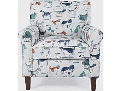 Cute Dog ACCENT CHAIR-MULTI