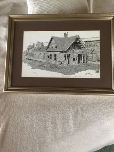 Park City Depot print by James Edward Coyle for sale in Provo , UT
