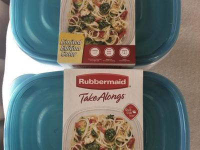 Rubbermaid 6 pk TAKE AWAYS NEW  2 lots