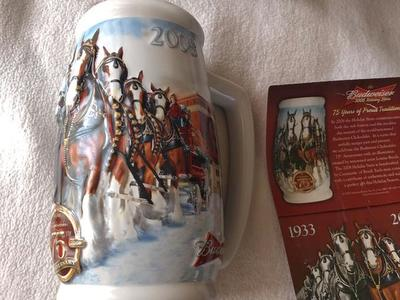 Budweiser 75 th anniversary stein NEW