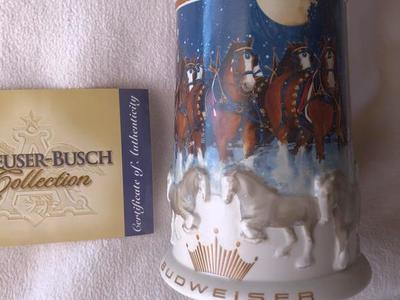 Budweiser 2005 Holiday Stein  perfect condition