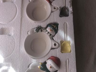 Hallmark Condiment bowls with spoons NEW