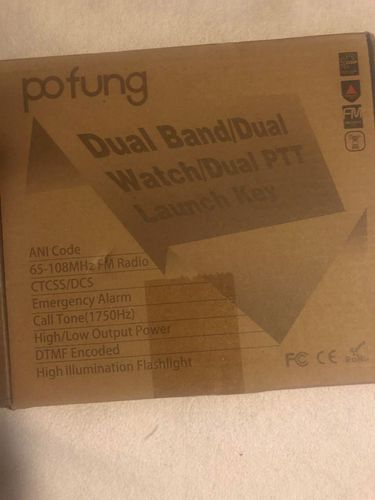 Pofung UV-82 X Dual band watch /dual PTT launch key NEW for sale in Provo , UT