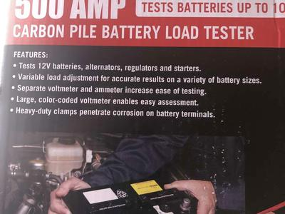 Solar 500 amp battery tester carbon  pile load tester 12 V NEW