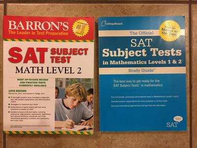 SAT Math Subject Test Prep Books
