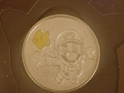 Super Mario coin with certificate of authenticity