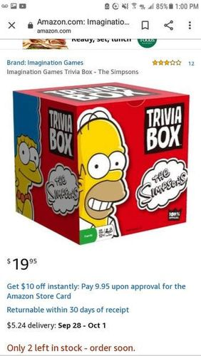 Simpson's trivia box new 1/2 the $ of amazon for sale in Riverton , UT