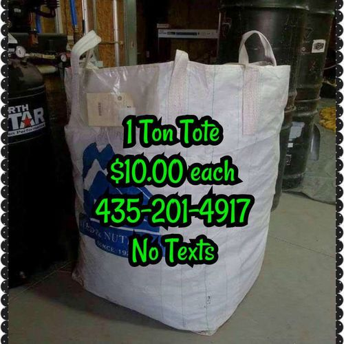 1 Ton Heavy Canvas Tote Bags for sale in Redmond , UT