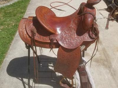 "15"" Cross Brother's Saddle made in Ogden, UT"