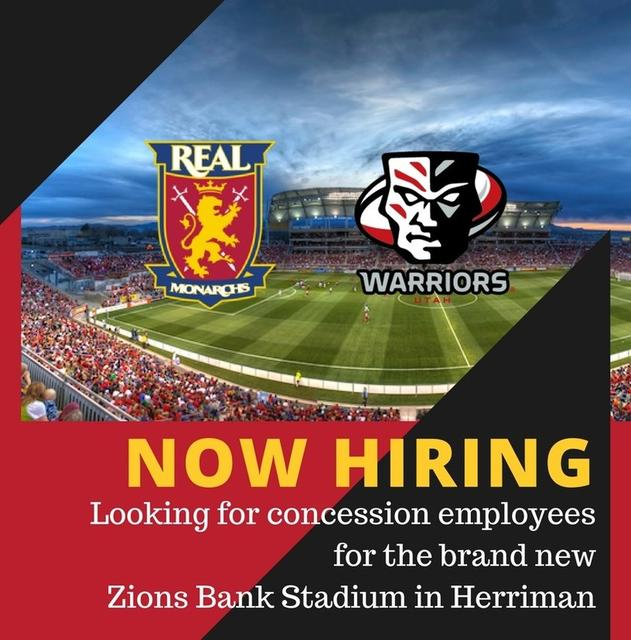 Concession Stand Worker for the new Zions Bank Stadium!, in Herriman ...